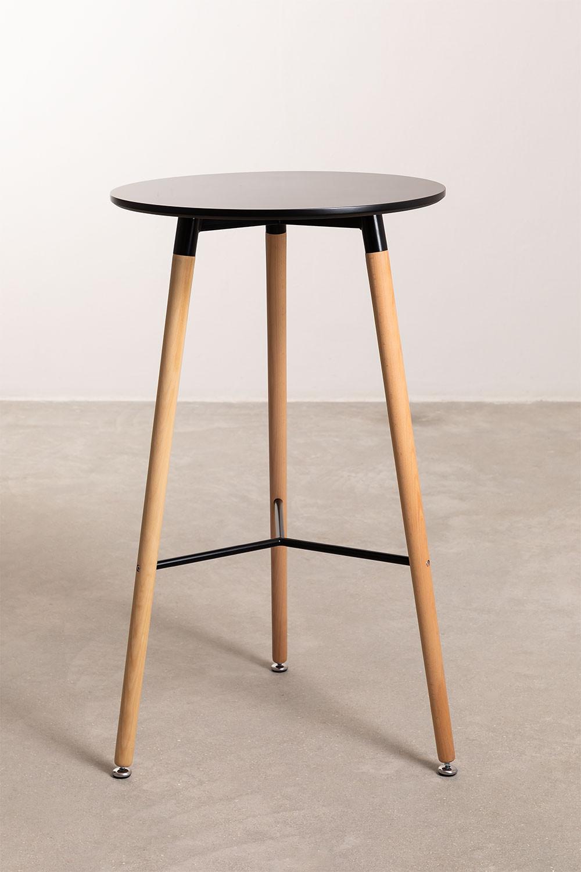 Mesa alta redonda em MDF e Metal (Ø60 cm) Royal Design, imagem de galeria 1