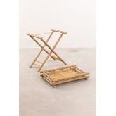 Mesa lateral dobrável Wallis com bandeja em bambu, imagem miniatura 4