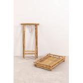 Mesa lateral dobrável Wallis com bandeja em bambu, imagem miniatura 5