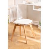 Cadeira de jantar nórdica transparente, imagem miniatura 1
