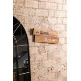Placa de madeira reciclada Gend, imagem miniatura 1