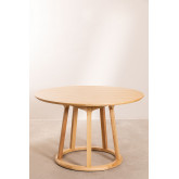 Mesa de jantar redonda de madeira (Ø120 cm) Celest, imagem miniatura 2