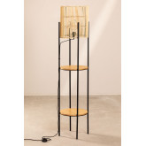 Candeeiro de pé com prateleiras de bambu Loopa, imagem miniatura 2