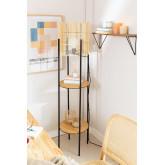 Candeeiro de pé com prateleiras de bambu Loopa, imagem miniatura 1