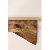 Cabide de madeira Raffa com prateleira de parede, imagem miniatura 4