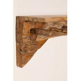 Cabide de madeira Raffa com prateleira de parede, imagem miniatura 5