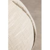 Pufe redondo em tecido Salma, imagem miniatura 4