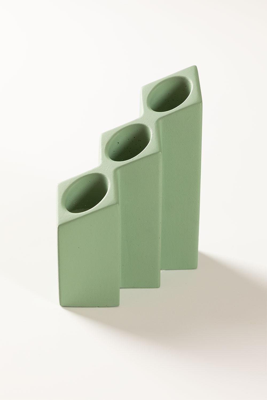 Porta-vela de cimento Yotuel, imagem de galeria 1