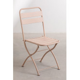 Conjunto de mesa dobrável Janti (60 x 60 cm) e 2 cadeiras de jardim dobráveis Janti, imagem miniatura 4