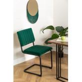 Orwell Velvet Dining Chair, imagem miniatura 1