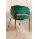 Cadeira de jantar de veludo Nalon, imagem miniatura 2