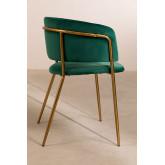 Cadeira de jantar de veludo Nalon, imagem miniatura 3