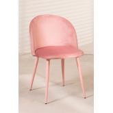 Cadeira de jantar de veludo Kana Colors, imagem miniatura 2