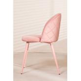 Cadeira de jantar de veludo Kana Colors, imagem miniatura 3