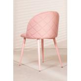 Cadeira de jantar de veludo Kana Colors, imagem miniatura 4