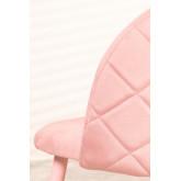 Cadeira de jantar de veludo Kana Colors, imagem miniatura 5