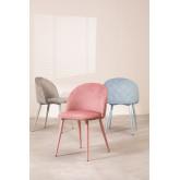 Cadeira de jantar de veludo Kana Colors, imagem miniatura 1