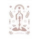 Conjunto de 3 folhas decorativas (50x70 e 30x40 cm) Buda, imagem miniatura 2