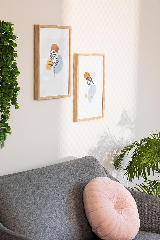 Conjunto de 2 Folhas Decorativas Gerb (30x40 cm), imagem de galeria 1