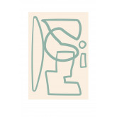 Conjunto de 3 Estampas Decorativas (50x70 e 30x40 cm) Donna, imagem miniatura 4
