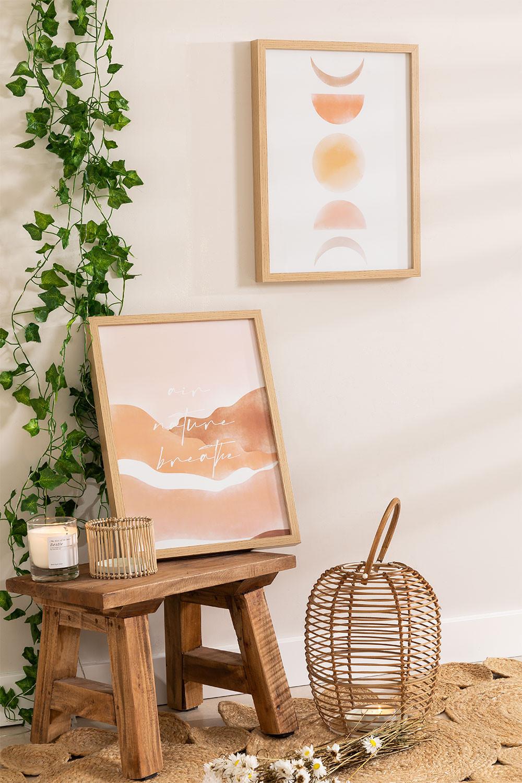 Conjunto de 2 folhas decorativas (30x40 cm) Estel, imagem de galeria 1