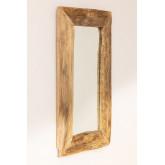Espelho de parede de madeira de teca Unax, imagem miniatura 2