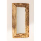 Espelho de parede de madeira de teca Unax, imagem miniatura 3