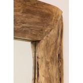 Espelho de parede de madeira de teca Unax, imagem miniatura 4