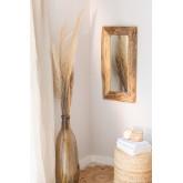 Espelho de parede de madeira de teca Unax, imagem miniatura 1