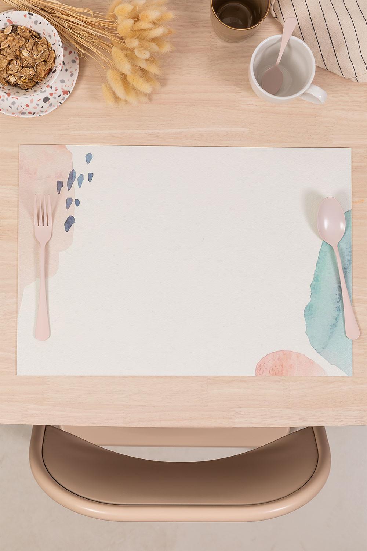 Toalha de mesa individual em vinil bemus, imagem de galeria 1