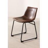 Cadeira estofada em couro estilo Ody, imagem miniatura 2