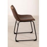 Cadeira estofada em couro estilo Ody, imagem miniatura 3