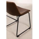 Cadeira estofada em couro estilo Ody, imagem miniatura 5