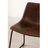 Cadeira estofada em couro estilo Ody, imagem miniatura 4