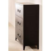 Gaveta de armário de 6 portas de metal Pohpli, imagem miniatura 3