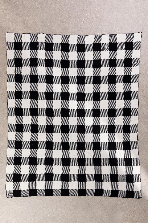 Manta xadrez de algodão kalai, imagem de galeria 1