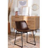 Cadeira estofada em couro estilo Ody, imagem miniatura 1