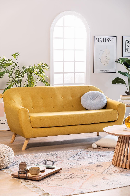 Sofá de 3 Lugares em Linho e Tecido Aktic, imagem de galeria 1