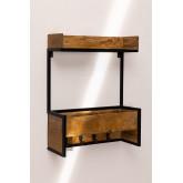 Cabide de parede de madeira Selan, imagem miniatura 2