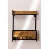 Cabide de parede de madeira Selan, imagem miniatura 3