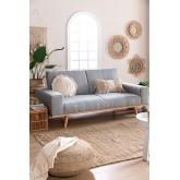 Sofá-cama de linho Hesson 3 lugares, imagem miniatura 1