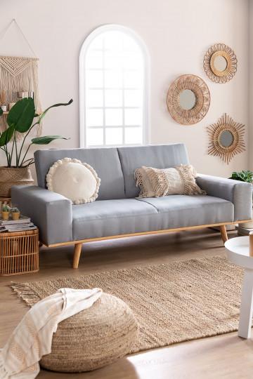 Sofá-cama de 3 lugares Hesson Linen