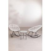 Conjunto de 2 cadeiras de balanço e mesa de Acapulco, imagem miniatura 2