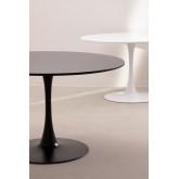 Mesa de jantar redonda em MDF e Metal Tuhl Style, imagem miniatura 6