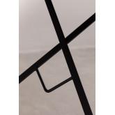 Mesa dobrável de aço Dreh para jardim (Ø77 cm), imagem miniatura 6