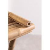 Mesa lateral com bandeja em Bamboo Tonga, imagem miniatura 5