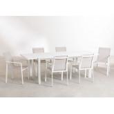 Conjunto de mesa extensível Starmi (180 - 240 cm) e 6 cadeiras de jardim Eika, imagem miniatura 2