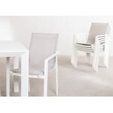 Conjunto de mesa extensível Starmi (180 - 240 cm) e 6 cadeiras de jardim Eika, imagem miniatura 3