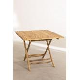 Mesa dobrável de bambu allen, imagem miniatura 3