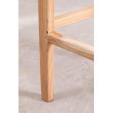 Banquinho alto de madeira e couro Zaid, imagem miniatura 6